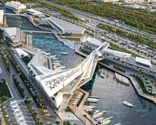The Al Qana complex in Abu Dhabi has been designed by local firm MZ Architects