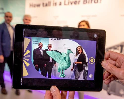 The app is designed to enhance the visitor experience using AR