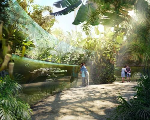 In a climate-controlled dome, Asian crocodiles and other reptiles and fish will thrive in hot and humid conditions / Auckland Zoo