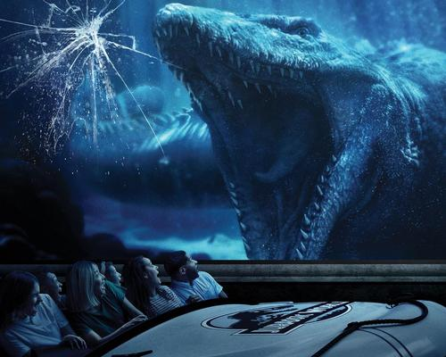 Industrial Light & Magic collaborated with the design team at Universal Studios Hollywood to create a digital version of Mosasaurus and its environment