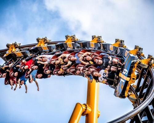 Steel Curtain breaks multiple records, including the most inversions of any ride in North America and the highest inversion of any rollercoaster in the world