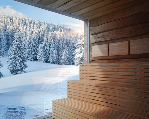 The spa includes nine saunas and steam baths of varying temperatures