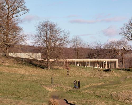 The Weston: The building was designed to have as small an impact on the sculpture park as possible / Peter Cook
