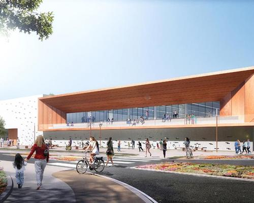 Designed by Atelier Ferret Architectures, the centre will provide 3,200sq m of space for indoor sports