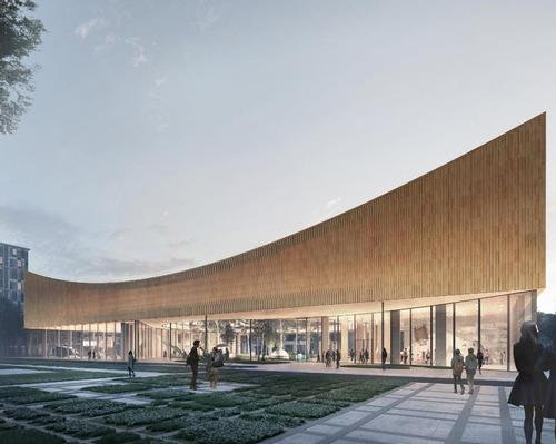COBE's winning design is a wooden construction that is CO2-neutral