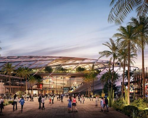 The 18,500-seat arena will have a three-dimensional oval design