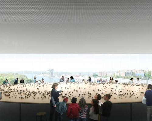 Among artist renderings released by the NSW Government in 2018 was this image of a gallery at the proposed expansion / NSW Government