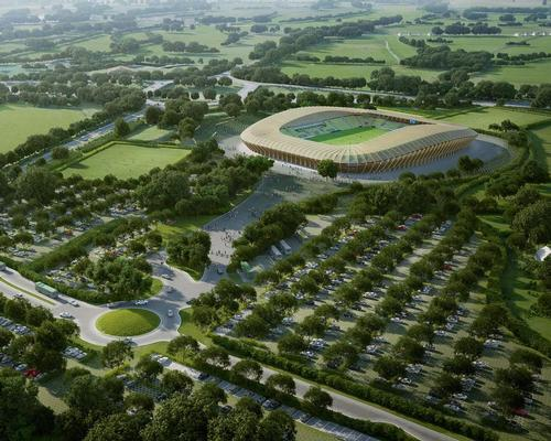 The stadium will be the centrepiece of the £100m Eco Park development – a 100 acre sports and green technology business park