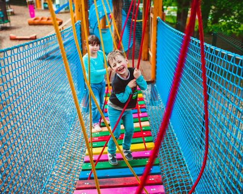 Nearly two in three parents in families with access to a playground said the park makes their child play outside more