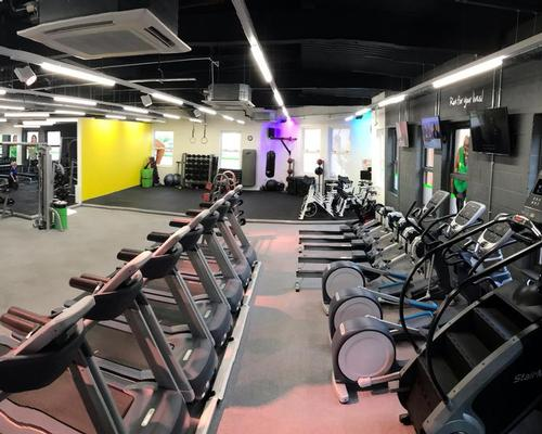 The 4,140sq ft club houses a 60-station gym floor equipped by Precor, a free weights zone and a small group training area
