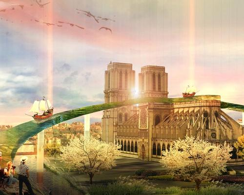 Waterway above Notre Dame among 'People's Design Competition' for new cathedral roof