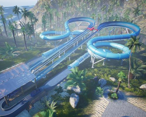The Slide Coaster is billed as a 'hybrid roller coaster and water slide'