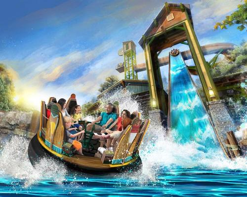 Mystic River Falls features eight-person rafts and 'the tallest drop in the Western Hemisphere'