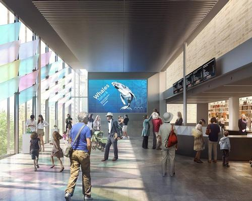 Artist's rendering of the expanded Crystal Hall entrance