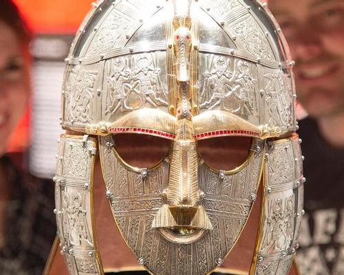 The iconic helmet discovered at the Sutton Hoo burial site in 1939 is now at the British Museum