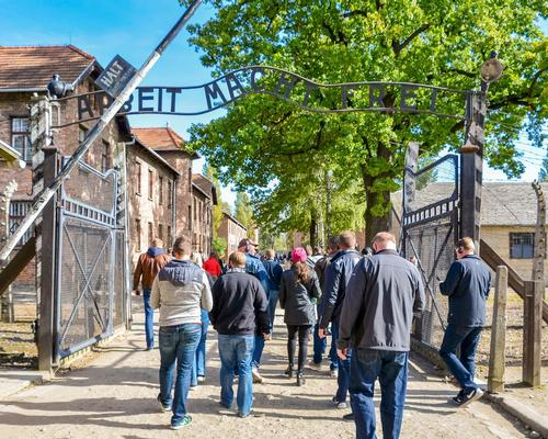 Visitor numbers to Auschwitz have increased five-fold in the last dozen years