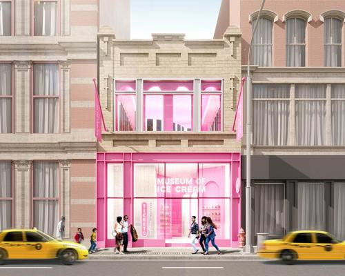 Rendering of the frontage of the soon-to-open Museum of Ice Cream New York City flagship