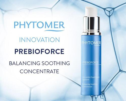 Phytomer's PREBIOFIORCE Balancing Soothing Concentrate is designed to nourish the skin's microbiota