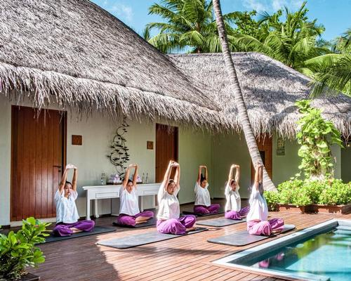 Guests can take free classes in Thai massage, stretching, at Devarana Spa in the Maldives