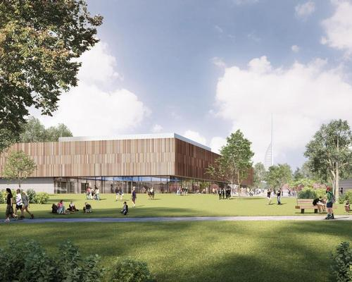 Designed by FaulknerBrowns Architects, the building will 'set new standards for sustainability for a sports building'