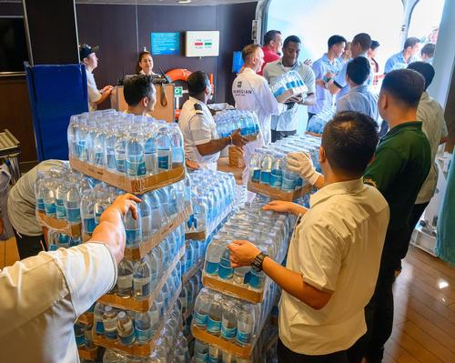With relief efforts hampered by damage and flooding in the country's airports, the three cruise lines stepped in, sending ships full of supplies to those in need