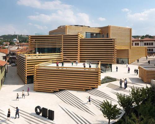 Kengo Kuma's Odunpazari Modern Museum is designed to complement the surrounding Ottoman housing