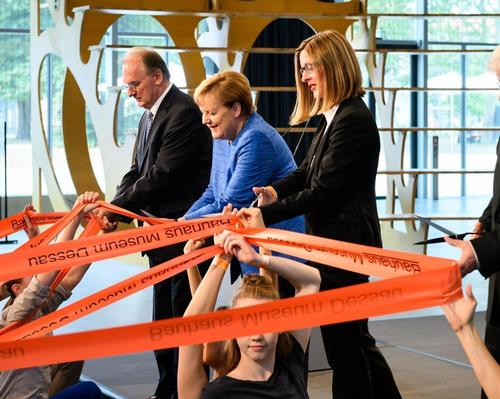 Chancellor Merkel helped to formally open the Bauhaus Museum Dessau