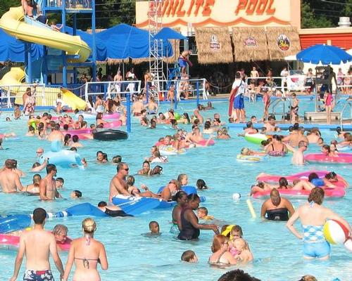 The Sunlite Pool, opened in 1925, is 400 feet long by 200 feet wide