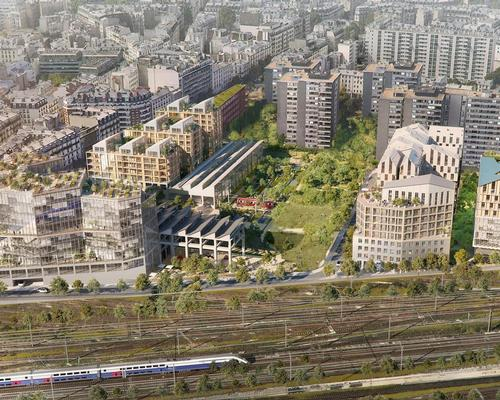The development will be built on the site of a former rail depot in Paris, France