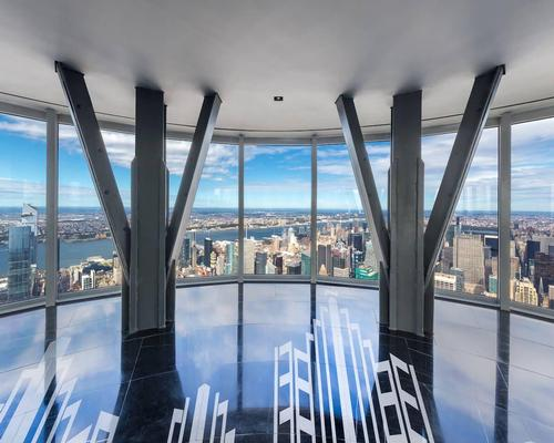 The observation deck has 24 floor-to-ceiling windows each 8ft (2.4m)-tall