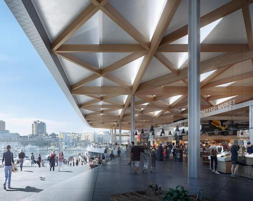 The design is aimed at integrating with and linking up the surrounding area / 3XN Architects