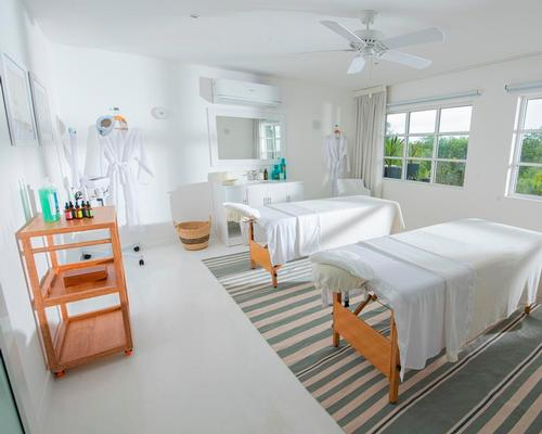 The spa has one single and one double treatment room