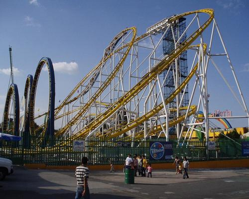 The Quimera coaster at La Feria was first used in the 1980s