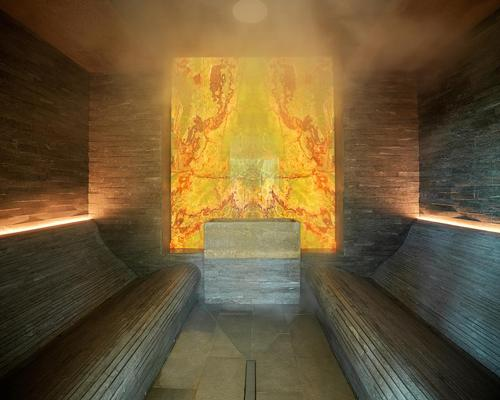 The spa offers multiple thermal experiences including a salt steam room.
