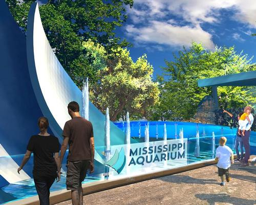 The entry to the US$93m Mississippi Aquarium