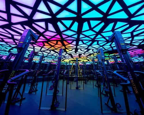 The modular LED units can be used to create immersive, multicolour lighting experiences / Cactus