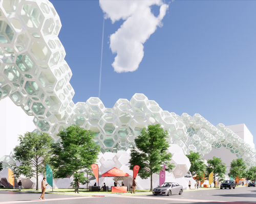 Connectic is a building material made of collapsible, modular units / Cooper Carry