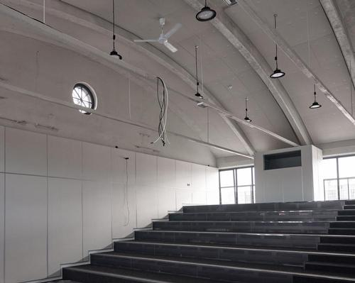 The centre also accommodates a 100-seat auditorium and education space / Tõnu Tunnel