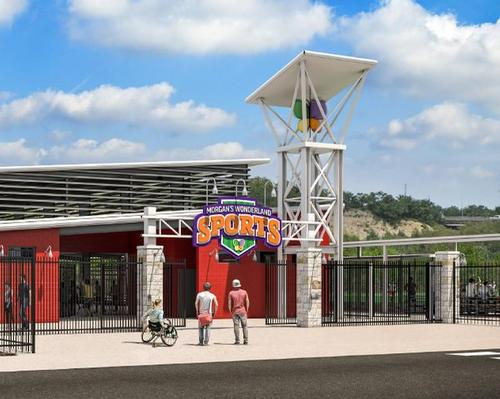 A rendering of how the entrance to the sports facility will look