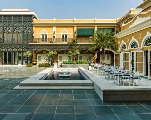 The Swabhumi Raajkutir hotel has been designed to transport guests back to the Bengali Renaissance / Salient Design Studio