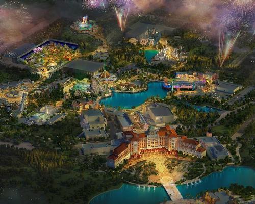 An artist's rendering of the Universal Beijing Resort