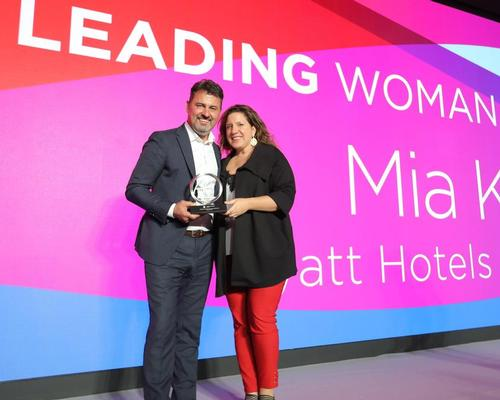 Kyricos receives Leading Woman in Wellness award @global_GWS @mykyricos