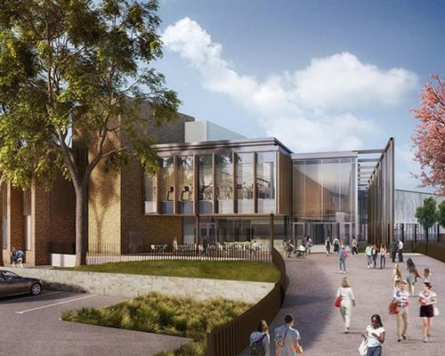Designed by GT3 Architects, the hub will mix leisure facilities with community services