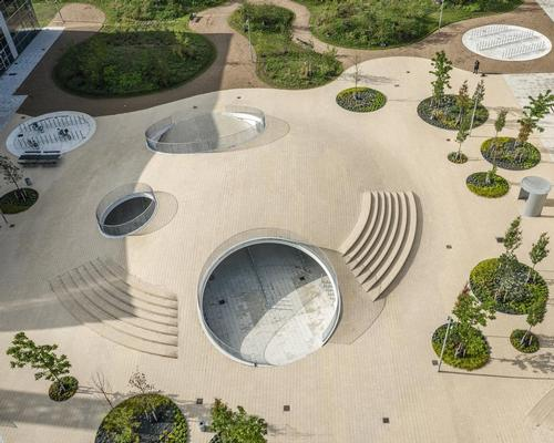 Cobe's Copenhagen square hides bicycles under hollow hills