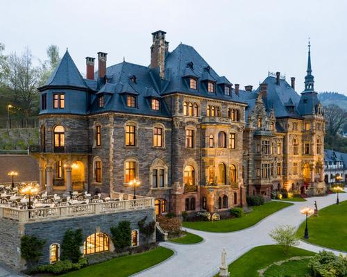 Schloss Lieser is a Neo-Renaissance-style castle with later Art Nouveau additions