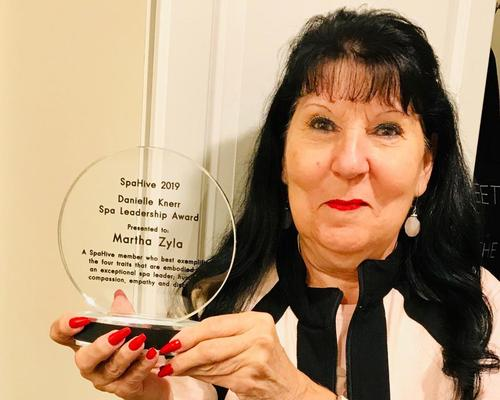 The 2019 award was given to Martha Zyla, spa director at Cascade Spa at Mill Falls, New Hampshire.