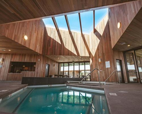 The spa and bathhouse has a shared saltwater soaking pool, a sauna, a hot tub, a cold plunge pool and a café / Micah Cruver