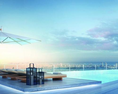 It will also have cabanas, a bar and a lounge / Aston Martin