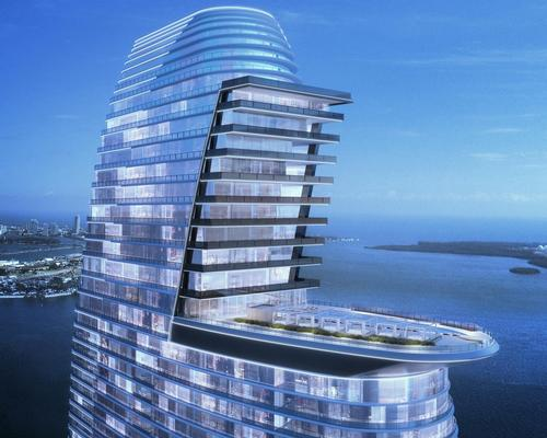 The building will have a distinctive L-shape at its upper levels / Aston Martin