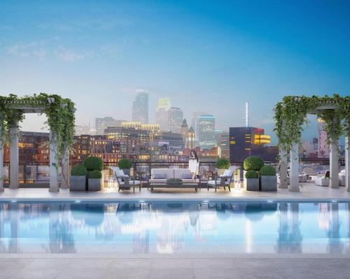 Residents will have access to a large landscaped rooftop deck with a 75ft (23m) rooftop lap pool